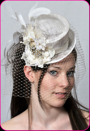 Bridal Doll's top bridal hat by Bellapacella