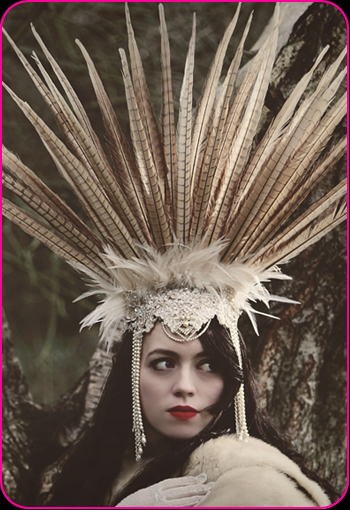 Bridal Tribal Beauty headpiece by Bellapacella
